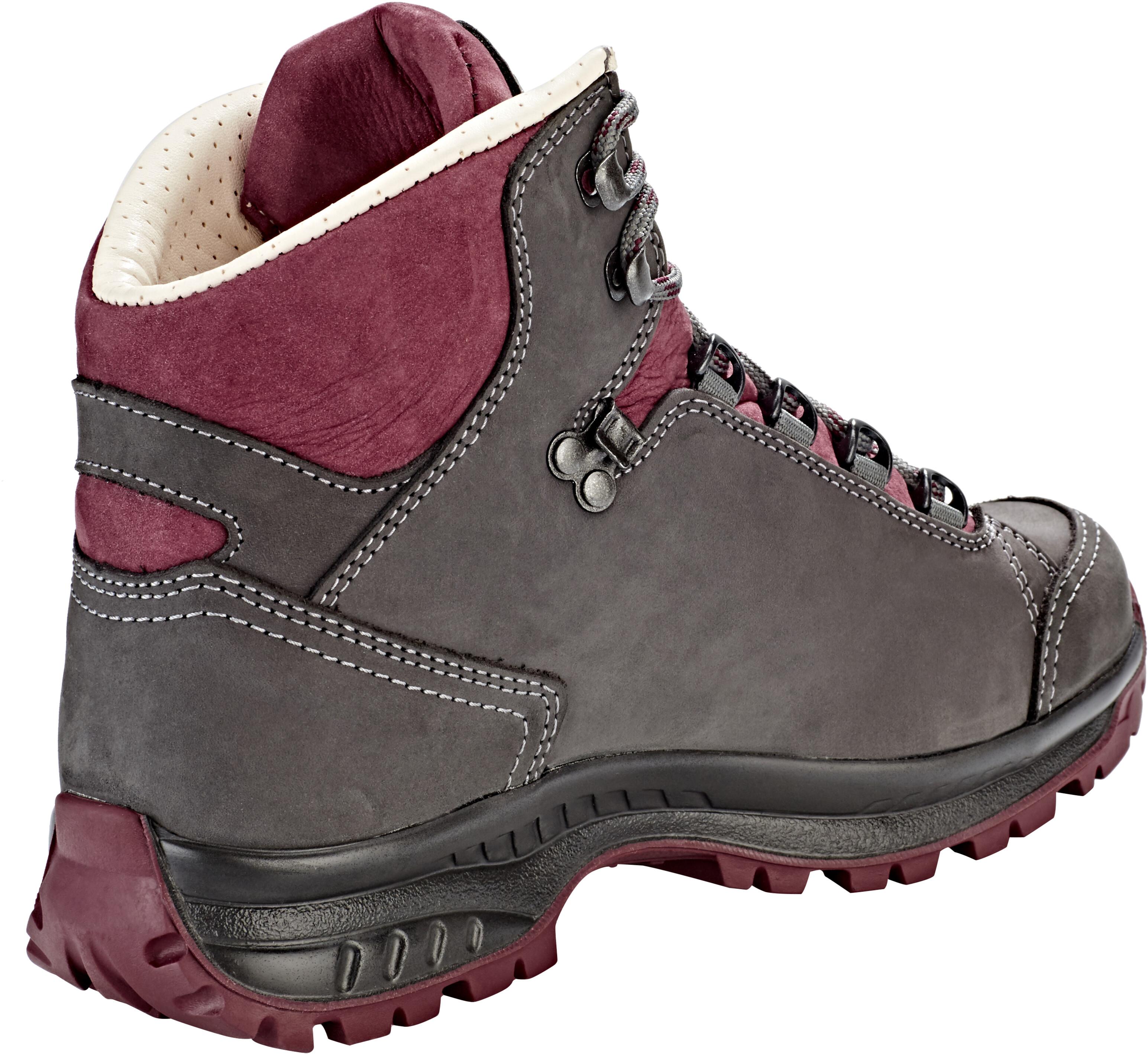 b18dd494109 Hanwag Alta Bunion Shoes Women asphalt/dark garnet
